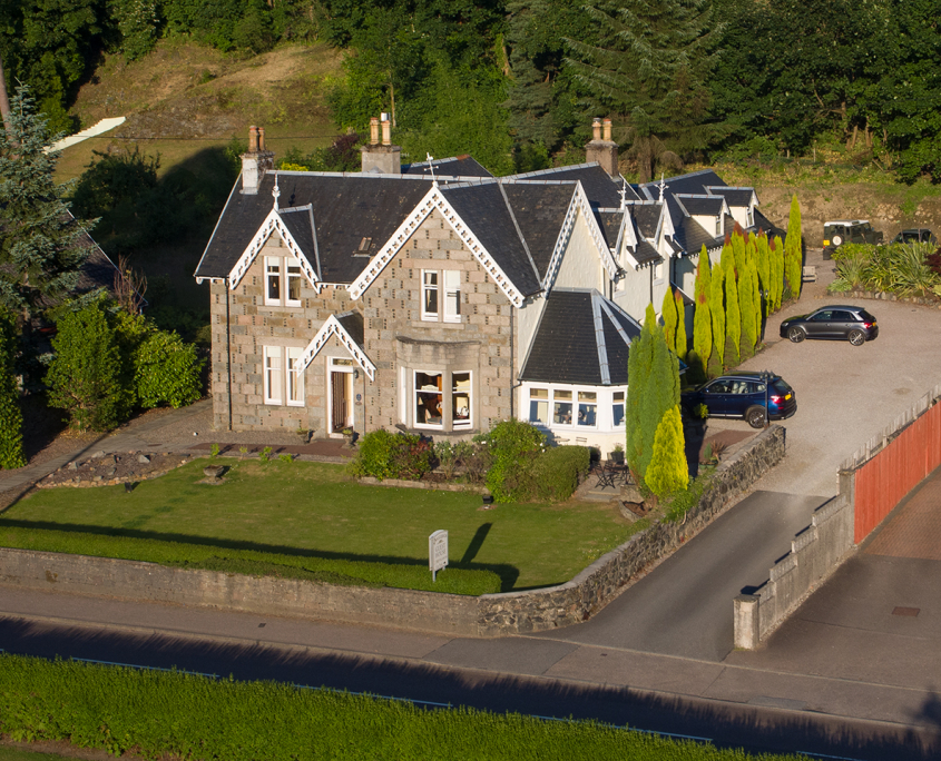 Aerial view of Buccleuch Guesthouse